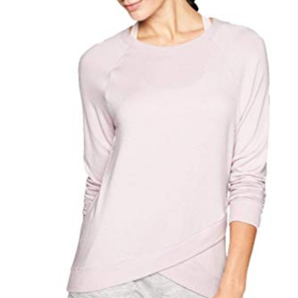 ATHLETA Criss Cross Sweatshirt Pullover Lilac Women Size L New